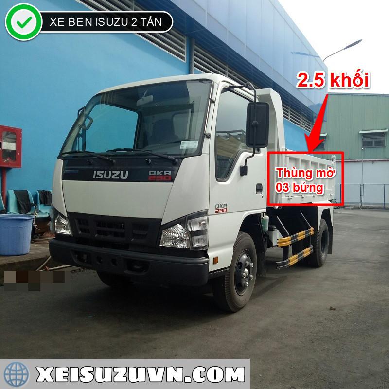 xe ben isuzu 2 tan the tich 2 5 khoi qkrf 230 mt