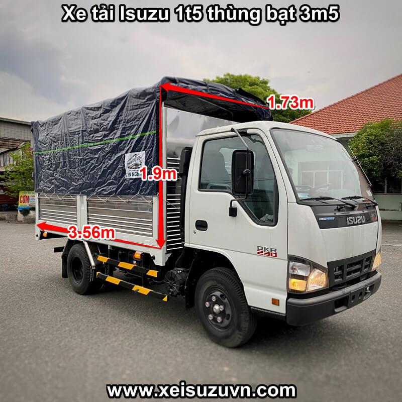 Xe tải isuzu 1t5 thùng bạt