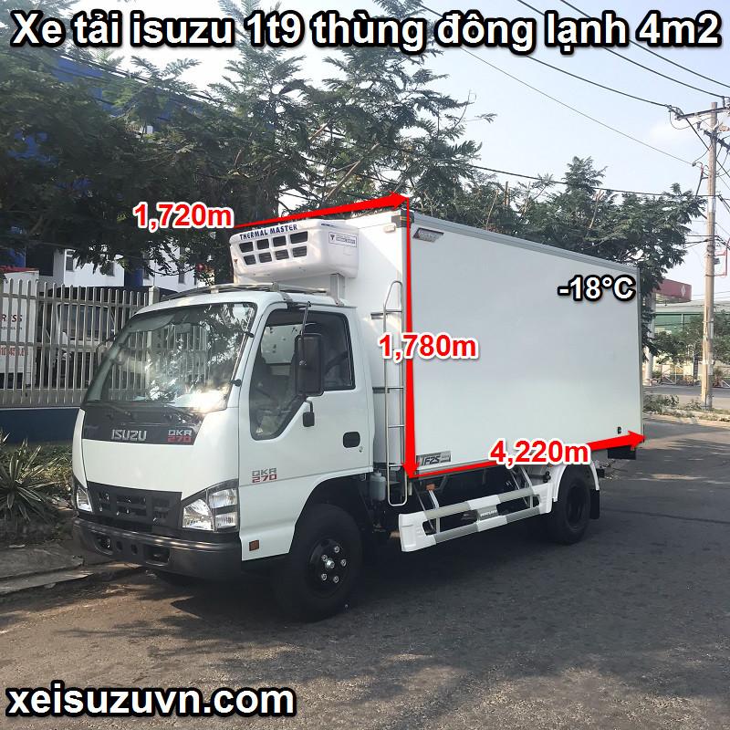 xe tai isuzu 1t9 thung dong lanh 4m2 qkr77he4 270