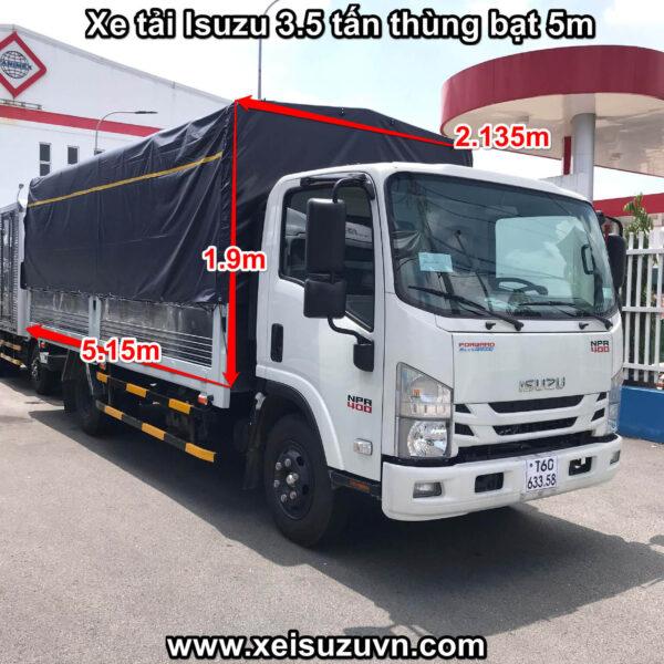 xe tai isuzu 3 5 tan npr 400 thung bat 5m npr85ke4