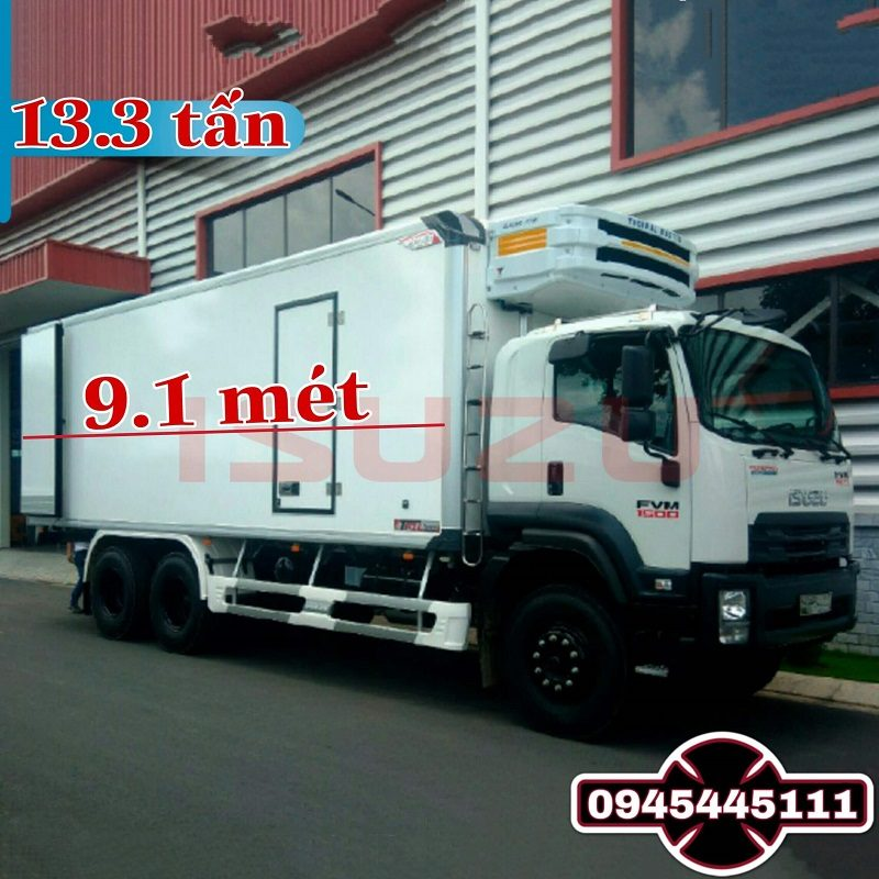 xe tai isuzu FVM 13t3 thung dong lanh