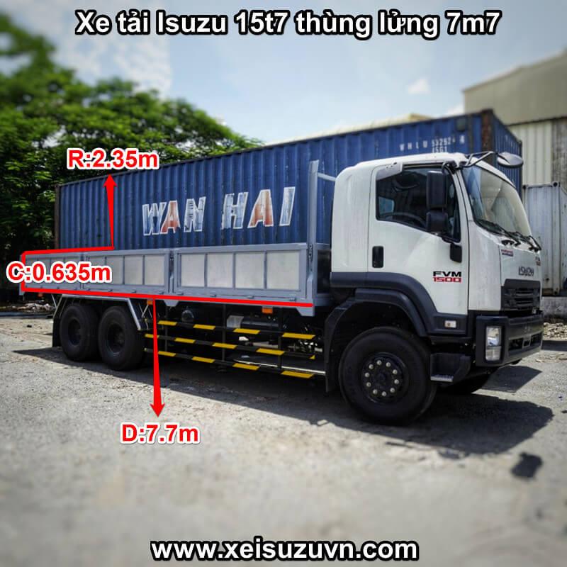 xe tai isuzu 15t7 fvm 1500 thung lung 7m7 fvm34te4