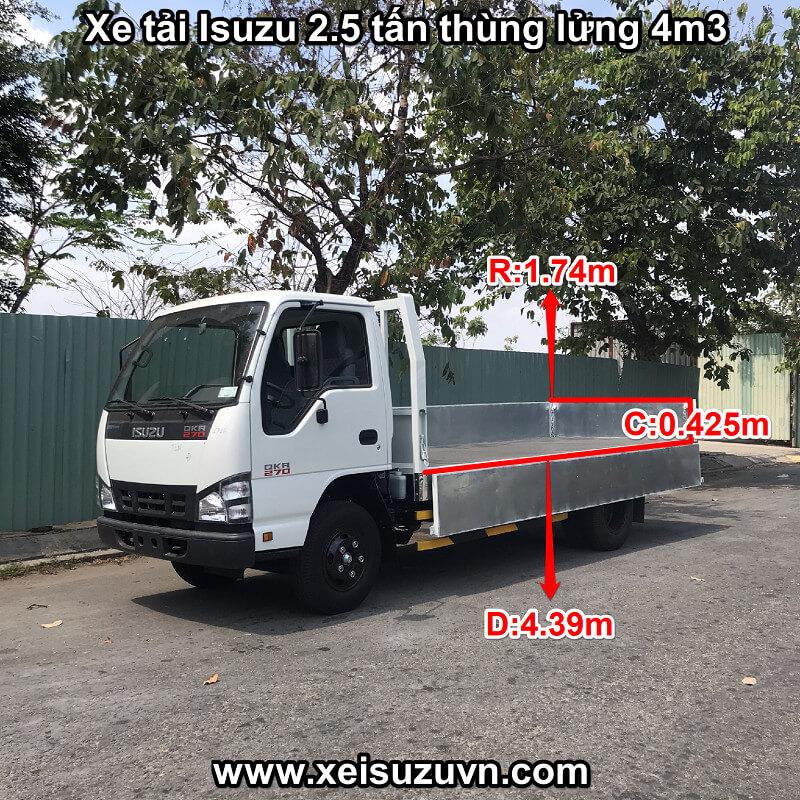 Xe tải Isuzu 2.5 tấn QKR 270 thùng lửng 4m3 | QKR77HE4