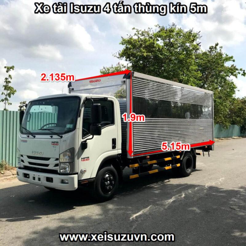 xe tai isuzu 4 tan npr 400 thung kin 5m npr85ke4 mt