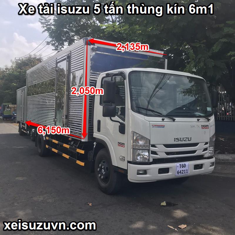 xe tai isuzu 5 tan thung kin 6m1 nqrm 550 1