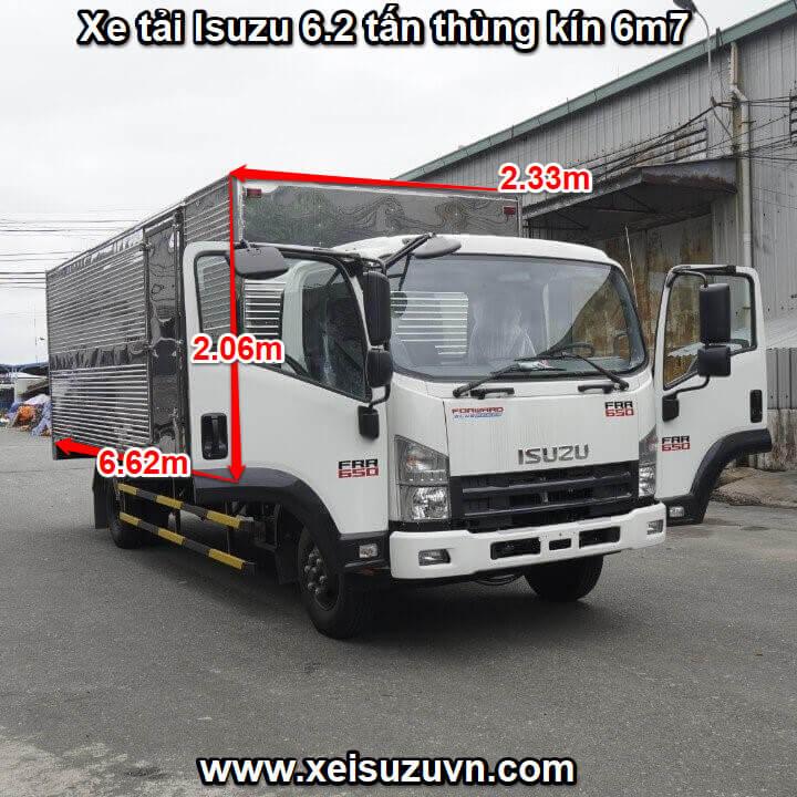 xe tai isuzu 6 2 tan frr 650 thung kin 6m7 frr90ne4