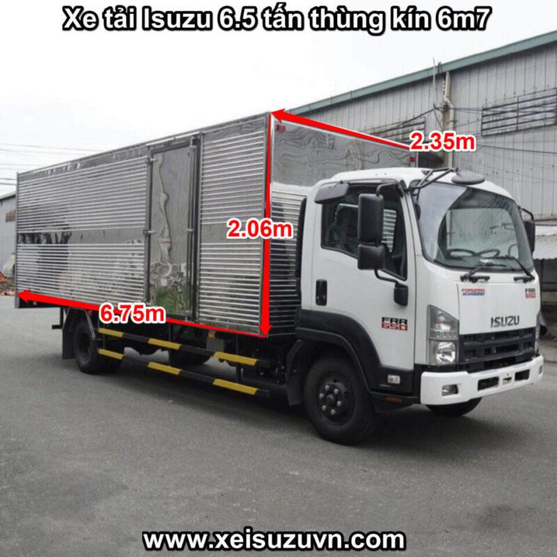 xe tai isuzu 6 5 tan frr 650 thung kin 6m7 frr90ne4