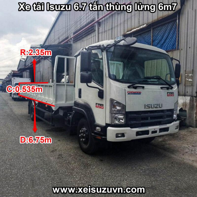 xe tai isuzu 6 7 tan frr 650 thung lung 6m7 frr90ne4