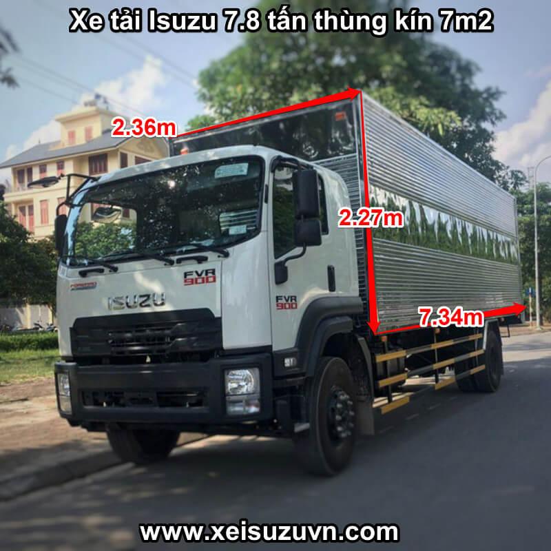xe tai isuzu 7 8 tan fvr 900 thung kin 7m2 fvr34qe4