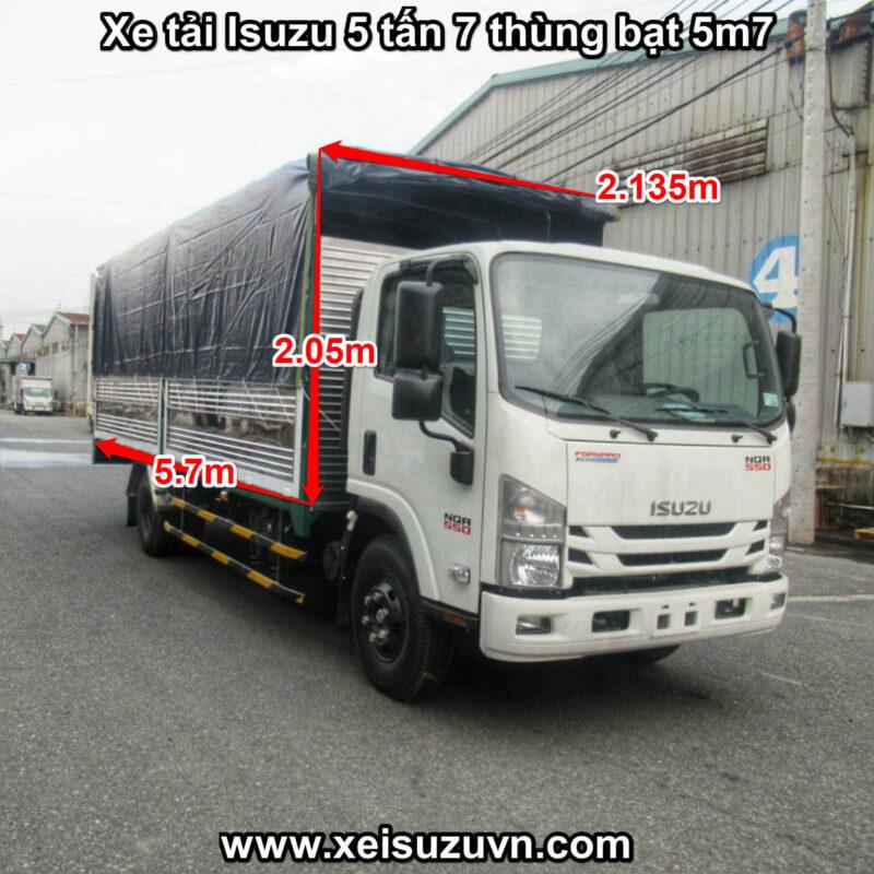 xe tai isuzu 5 tan 7 nqr 550 thung bat 5m7 nqr75le4 mt