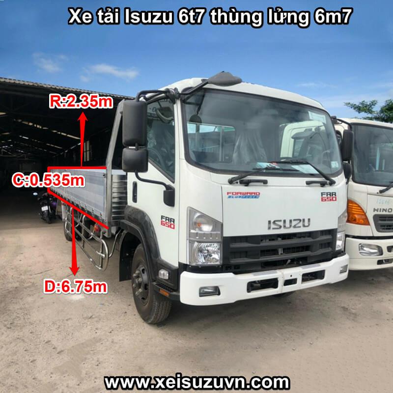 xe tai isuzu 6t7 frr 650 thung lung 6m7 frr90ne4