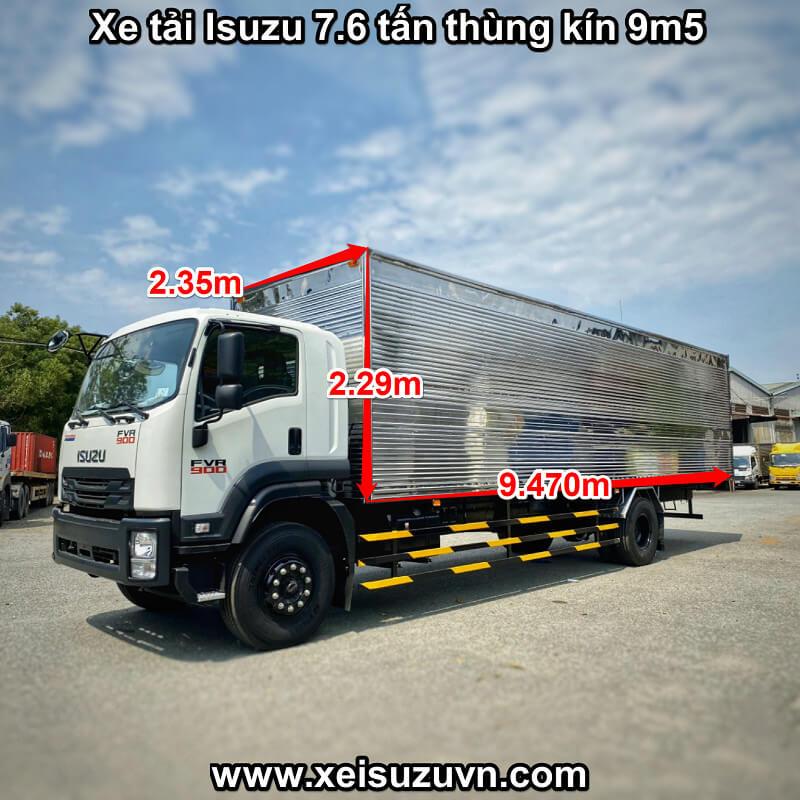 xe tai isuzu 7 6 tan fvr 900 thung kin 9m5 fvr34ue4