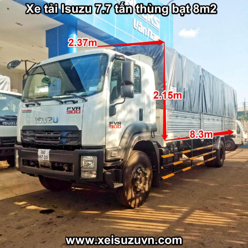 xe tai isuzu 7 7 tan fvr 900 thung bat 8m2 fvr34se4