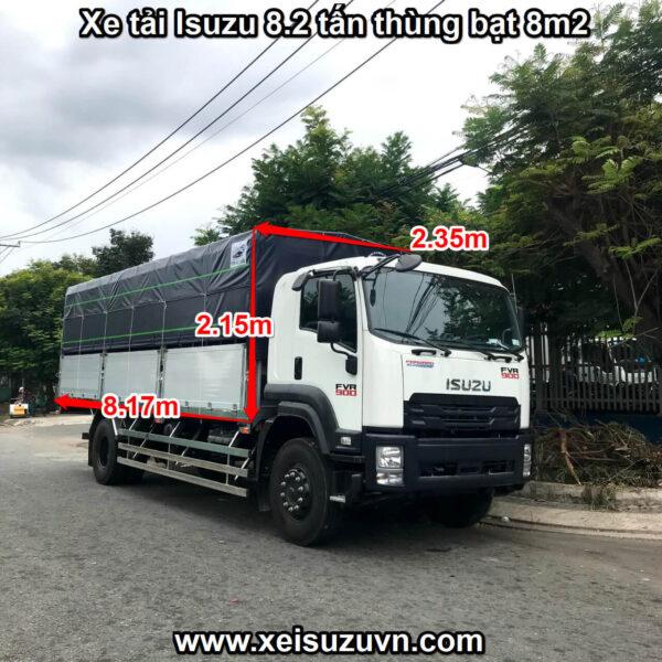 xe tai isuzu 8 2 tan fvr 900 thung bat 8m2 fvr34se4