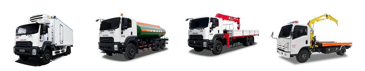 Các loại xe tải chuyên dụng isuzu