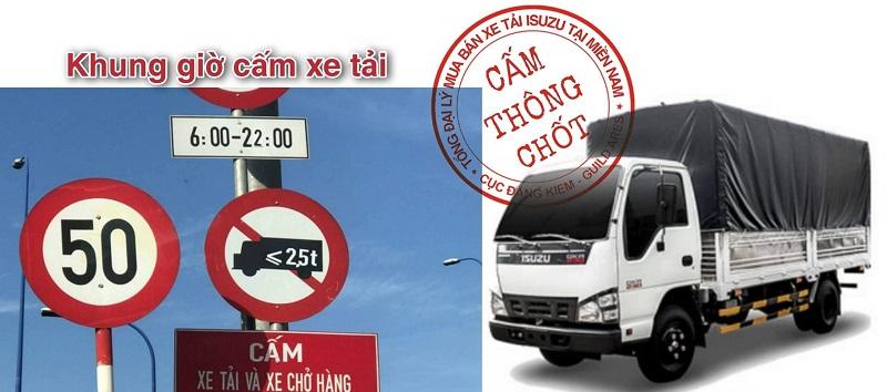 Khung giờ cấm xe tải vào TPHCM