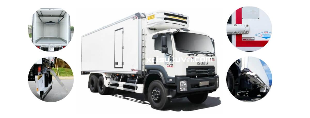 Xe tải đông lạnh Isuzu: lợi ích của sản phẩm chính hãng