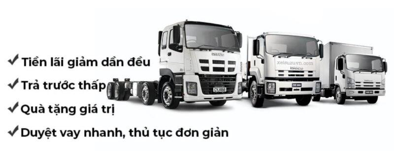 Ưu điểm mua xe tải isuzu trả góp là gì?
