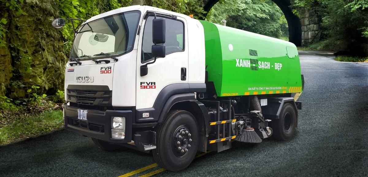 Xe ép rác Isuzu: bảo vệ môi trường