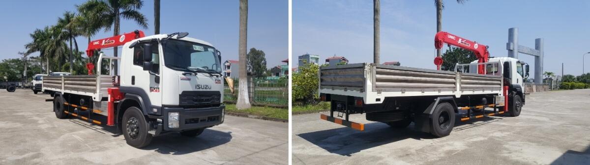 Xe tải Isuzu gắn cẩu: sản phẩm không thể thay thế